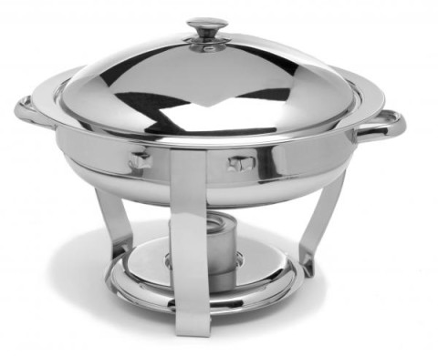 chrome 4 or 6 qt round chafer