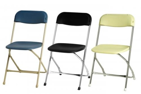 High Quality Folding Chairs W/ Plastic Contour Seat