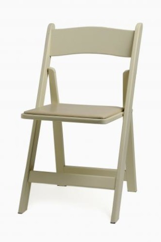 Wood Folding Chair, Ivory