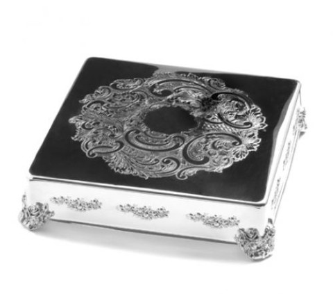 Wedding Cake Stand Silver Square