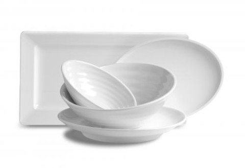 White Melamine Serving Bowls And Platters Hall S
