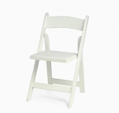 Wood Folding Chair, White
