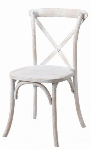 French Country Chair, White Wash
